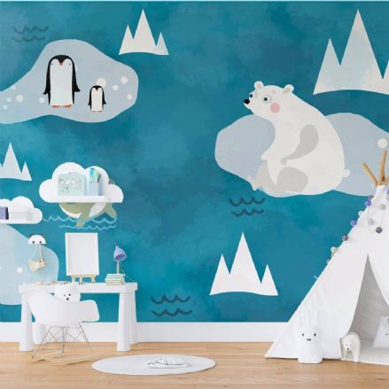 Nursery Paper photo wallpaper Polar bear